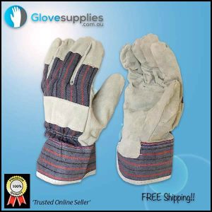 Candy Stripe Cow Split Leather Glove - for more info go to glovesupplies.com.au