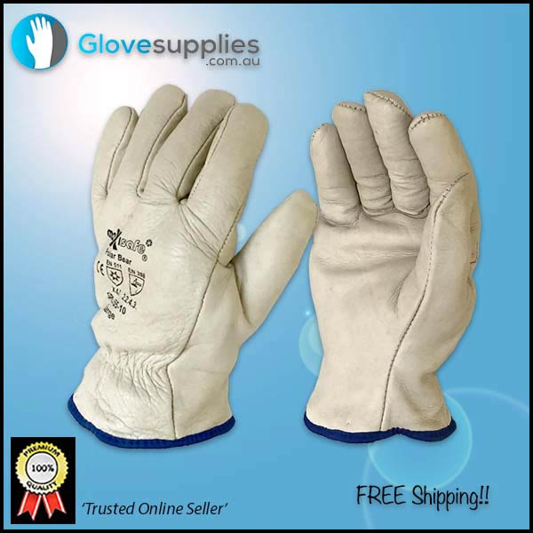 Fleece Lined Leather Rigger Glove - for more info go to glovesupplies.com.au