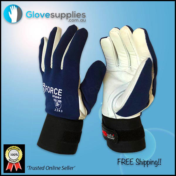 Gel Padded Full Finger Anti Vibration Mechanics Work Gloves - for more info go to glovesupplies.com.au