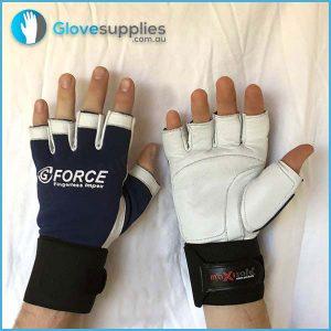 Gel Padded FINGERLESS Anti Vibration Mechanics Work Gloves - for more info go to glovesupplies.com.au
