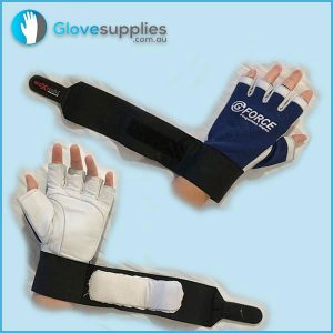 Gel Padded Fingerless Anti Vibration Mechanics Work Gloves - for more info go to glovesupplies.com.au