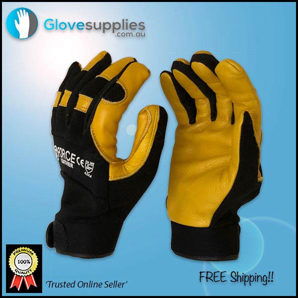 Soft Leather Mechanics Gloves - for more info go to glovesupplies.com.au