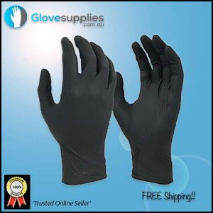 Black Shield Tear Resistant Disposable Gloves - for more info go to glovesupplies.com.au