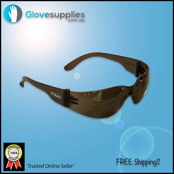 General Purpose Safety Sunglasses wrap-around style - for more info go to glovesupplies.com.au