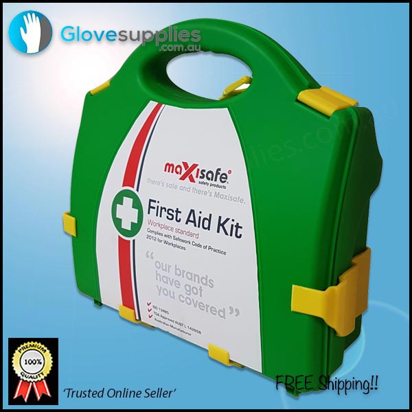 Workplace First Aid Kit Hard Case - for more info go to glovesupplies.com.au