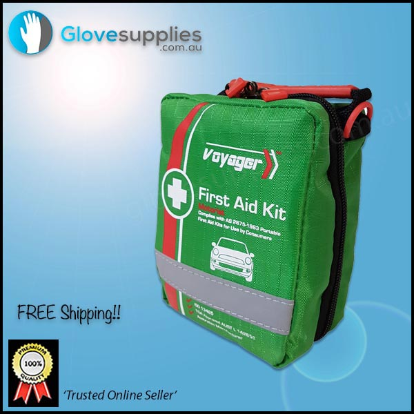 Vehicle First Aid Kit Soft Case - for more info go to glovesupplies.com.au