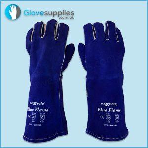 Blue Premium Kevlar Welders Glove - for more info go to glovesupplies.com.au